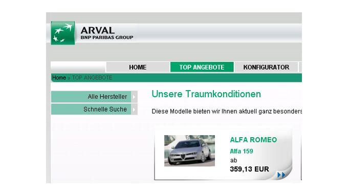 Car-Konfigurator von Arval