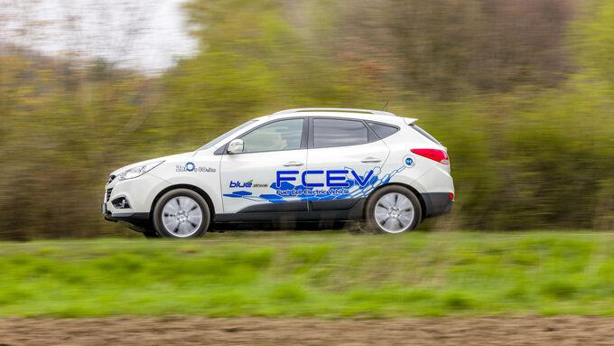 Der Hyundai ix35 FCEV von der Seite