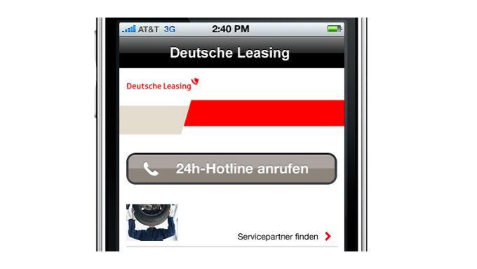 Deutsche Leasing: App hilft