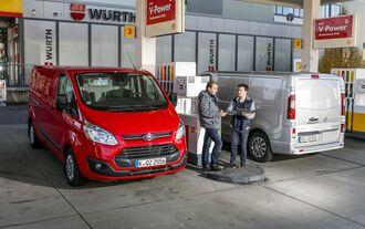 Ford Transit Custom 2.2 TDCi 310L2, Opel Vivaro 1.6 Biturbo CDTIECoflex L1H1