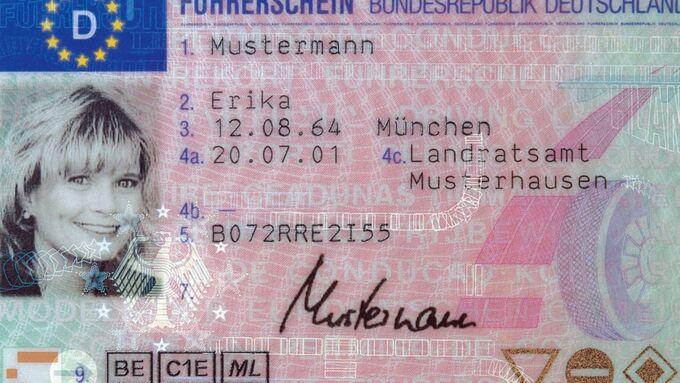 Führerschein, Mustermann