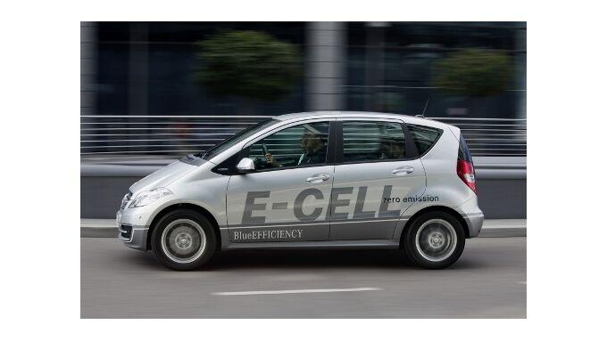 Mercedes A-Klasse E-CELL läuft bis zu 200 Kilometer