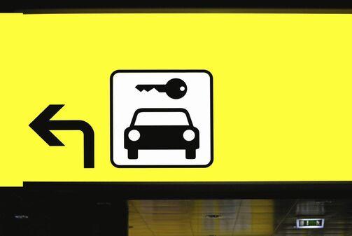 Miete, Mietwagen, Automiete, Autovermietung, Mietauto, mieten, Rent-a-car, Zeichen, Piktogramm