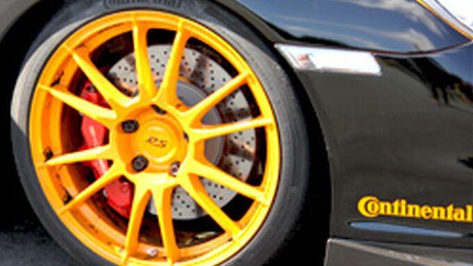Porsche Continental Rad Felge Reifen