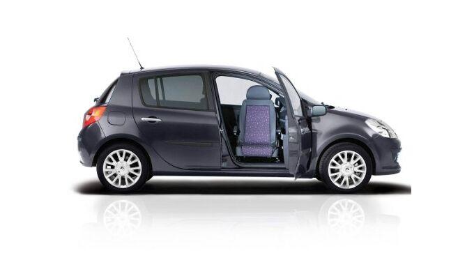 Renault Clio mit schwenkbarem Sitz