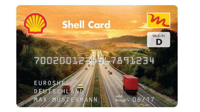 Shell Card skaliert