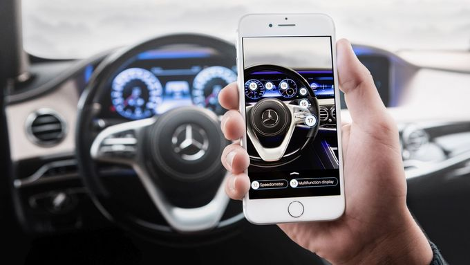 Ask Mercedes Smartphone Betriebsanleitung Augmented Reality virtuell