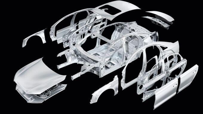 Audi Multimaterial Space Frame (MSF) Bauweise