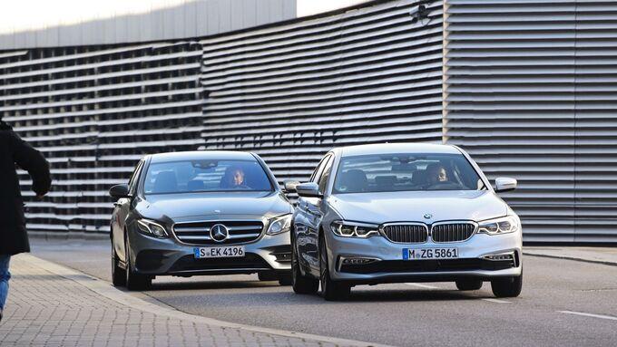 BMW 520d, Mercedes E 220d