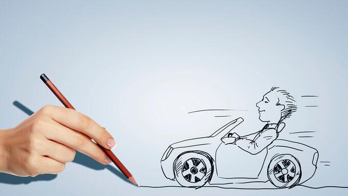 Berufsbild Fuhrparkmanager, Zeichnung