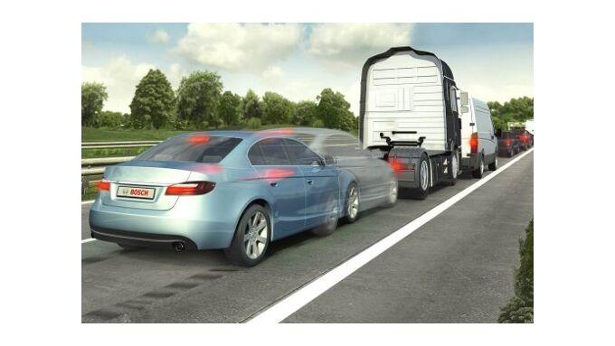 Bremsassistent vermeidet Auffahrunfälle