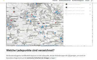 Bundesnetzagentur Ladesäulenkarte