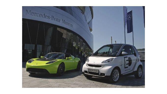 Daimler steigt bei Tesla ein
