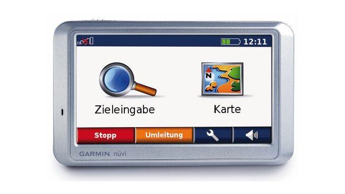 Das Navigationsgerät Garmin Nüvi 750 TFM