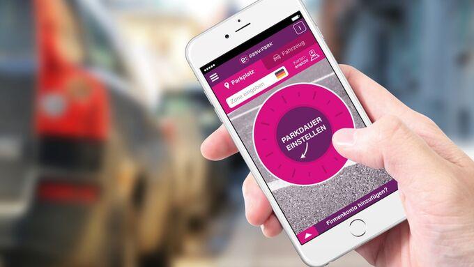 EasyPark smartphone parkplatzsuche bezahlen