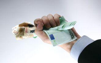 Geld festhalten