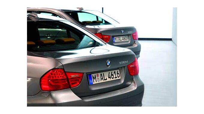 Heck eines BMW 330d