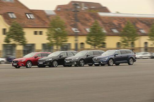 Kia Optima Sports Wagon, Mazda 6 Kombi, Ford Mondeo Turnier, Renault Talisman Grandtour