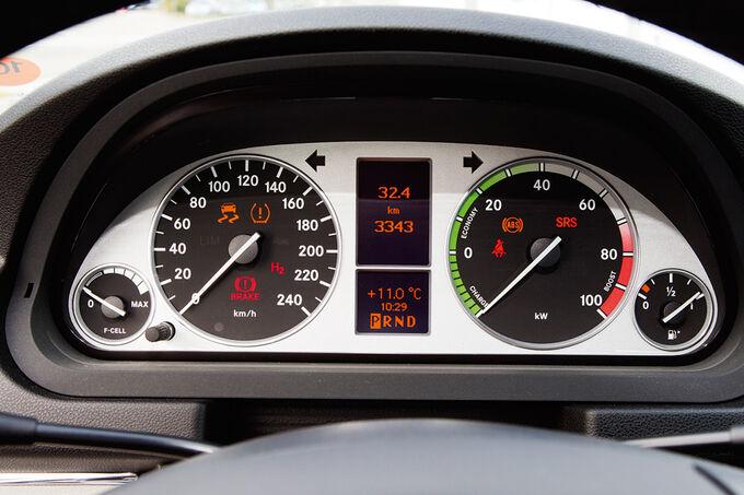Mercedes B-Klasse F-Cell, Drehzahlmesser