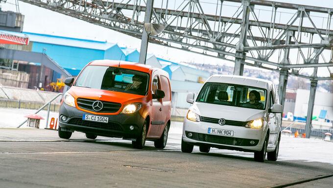 Mercedes Citan, VW Caddy, Vergleich