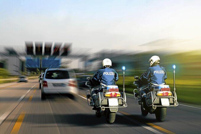 Motorrad Polizei Videoüberwachung