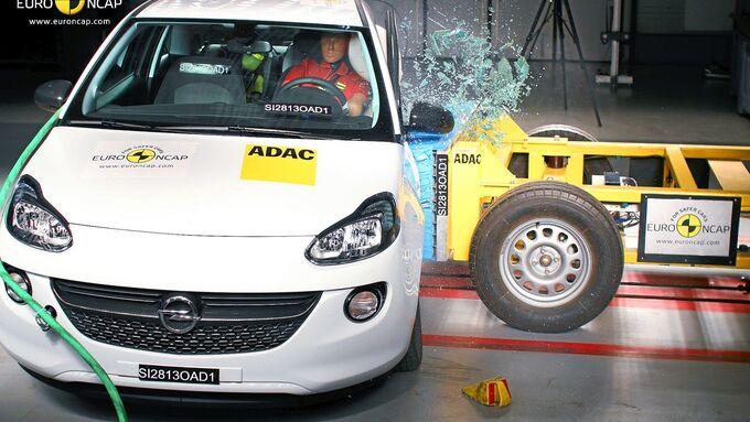Opel Adam, Sicherheitstest, Test, Crashtest