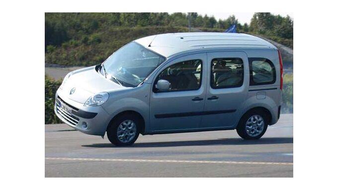 Renault Kangoo kommt ins Kippen